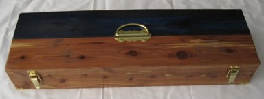 Red & Blue Cedar Gourd Box - Click Image to Close