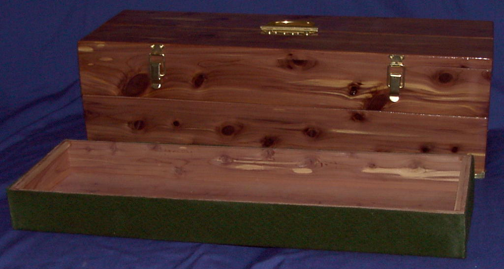 Double Height Cedar Box with Tray