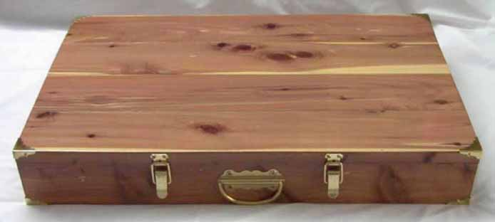 Wide Cedar Box - Click Image to Close